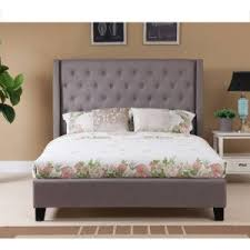 home decor appealing wingback queen bed perfect with black