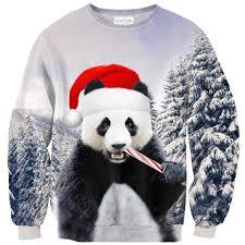 panda sweater santa panda sweater shelfies