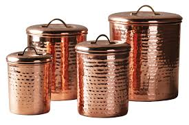 Stainless Steel Kitchen Canister Sets 100 Copper Kitchen Canisters Old Dutch Decor Copper