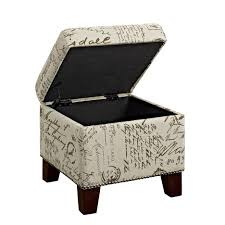 Ottoman Storage Tray by Ottomans Storage Ottoman With Tray Leather Ottoman With Storage