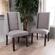 Noble House Dining Chairs Noble House Stanley Dark Grey Fabric Dining Chairs Walmart Com