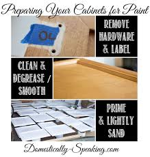 Remove Paint From Kitchen Cabinets How To Paint Your Kitchen Cabinets Domestically Speaking
