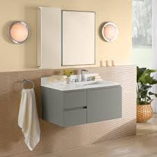 Bathroom Vanities And Mirrors Sets 36 Wall Mount Bathroom Vanity Set In Slate Gray With Ceramic