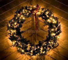 lighted christmas wreath lighted christmas wreath stock image image of seasonal 396165