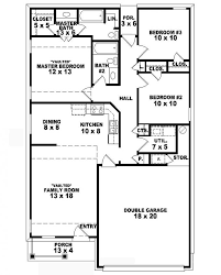 one story two bedroom house plans appealing 3 bedroom 2 bathroom house plans images best inspiration