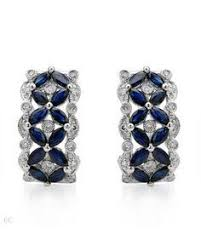 clip on earrings accessorize bijoux heart gold plated and faux lapis clip earrings