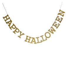happy halloween sign gold glitter banner paper garland