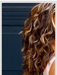 curly hair with lowlights auburn and blonde highlights on brown long curly hair google
