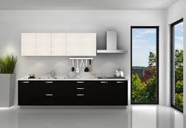 High Gloss Black Kitchen Cabinets Black And White Lacquer Kitchen Cabinet Of Fashion Kitchen