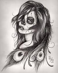 dead feathers by gary shepherd sugar skull tattoo fine art print