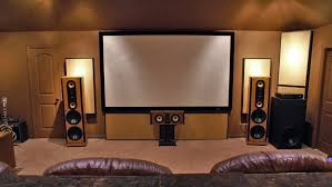 Modern Media Room Ideas - home theater stage design home design ideas