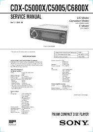 sony cdx gt170 wiring diagram