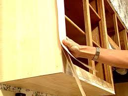 kitchen cabinet resurface kitchen cabinet refacing with veneer video hgtv