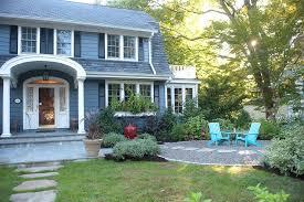 Grassless Backyard Ideas Grassless Yard Exterior Traditional With Front Door Themed Garden