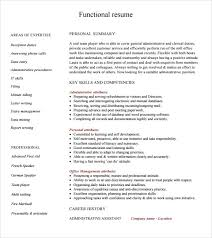 Executive Assistant Functional Resume Sample Functional Resume 5 Documents In Pdf