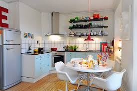 three rooms apartment diverse with homey interior kitchen san