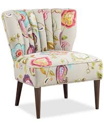 Fabric Accent Chair Kenzie Floral Fabric Accent Chair Quick Ship Furniture Macy U0027s