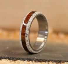 deer antler wedding band wood antler rings staghead designs