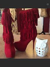 s heel boots size 11 size 11 boots fringe for ebay