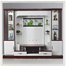 shx design living room tv set furniture 9905 led tv wall units