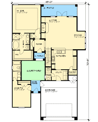 floor plans with courtyards courtyard and casita 36853jg architectural designs house plans
