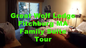 great wolf lodge family suite room tour fitchburg ma boston new