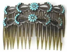 vintage hair combs zuni hair combs oj353