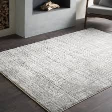 Grey Modern Rug Williston Forge Brooks Distressed Modern Abstract Gray Cream Area