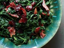 sautéed spinach with pancetta and dried cranberries recipe