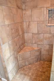 bathroom amazing tiled showers with shower bench and tile