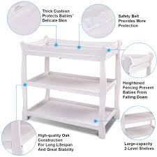 Changing Table Safety Costway Rakuten Costway White Sleigh Style Baby Changing Table