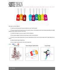 sample designs u0026 web templates subtle design