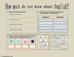 english exercises greetings