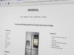 minimal advanced clean responsive multi purpose ebay listing