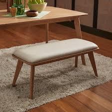 Contemporary Upholstered Bench Penelope Danish Modern Upholstered Dining Bench Inspire Q Modern