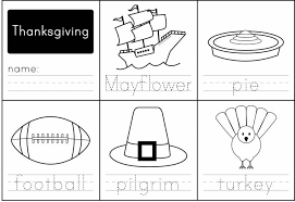 pictures on kindergarten thanksgiving worksheets printables