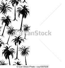 palm border palm tree border in stark black and white with stock