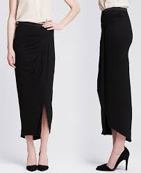 prevent maxi skirt uni leg with front side slits ylf