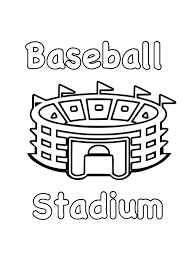 baseball free coloring pages