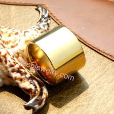 wholesale gold rings images Pure titanium rings male ultra wide banzhi thumb ring ring of 18 k jpg