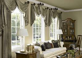 window treatments arched window rods sets luxurious living room