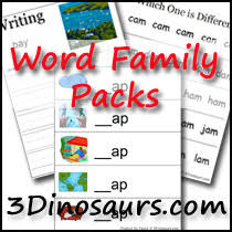 3 dinosaurs cvc word family printables ig