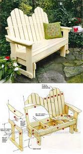 adirondack glider bench plans outdoor furniture plans and