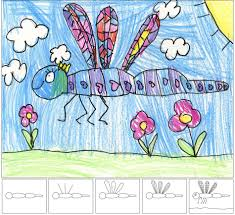 art project for kids to learn how to draw a dragonfly ziggity zoom