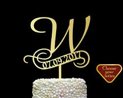 w cake topper letter w cake topper etsy