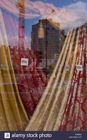 Curtains Drapes Display Of Curtains Drapes In A Central London Street Shop