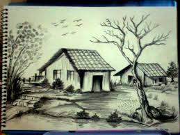 photos pencil sketch landscape images drawing art gallery