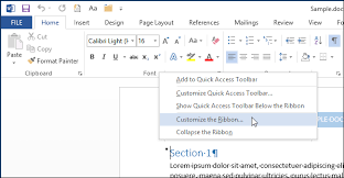 customize ribbon how to customize existing tabs on the ribbon in office 2013