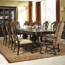 legacy classic la bella vita 9 piece dining set with upholstered