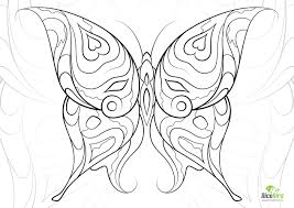 heart butterfly coloring book pages